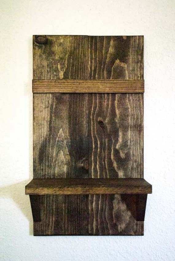Rustic wooden shelf rustic home decor reclaimed by mintagedesigns Home decor knick knacks