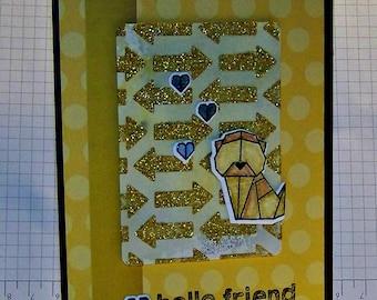 Hello Friend... Greeting Card...