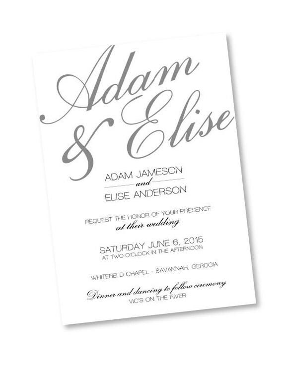 Rustic calligraphy photoshop template wedding invitation