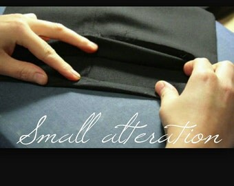 Small alteration service such as shorten the length of trousers and suit or jacket.
