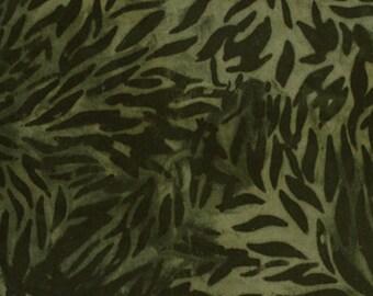 Anthology Fabrics Bali Batik 9541 Green Blennd Yardage