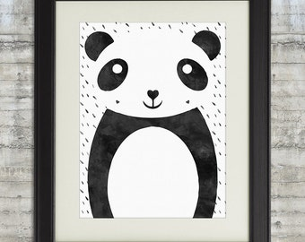 Panda Bear, Panda Nursery Art,  Panda Bear Art, Panda Bear Print, Panda Decor, Panda Wall Art Wall Decor Poster Painting - Panda Love