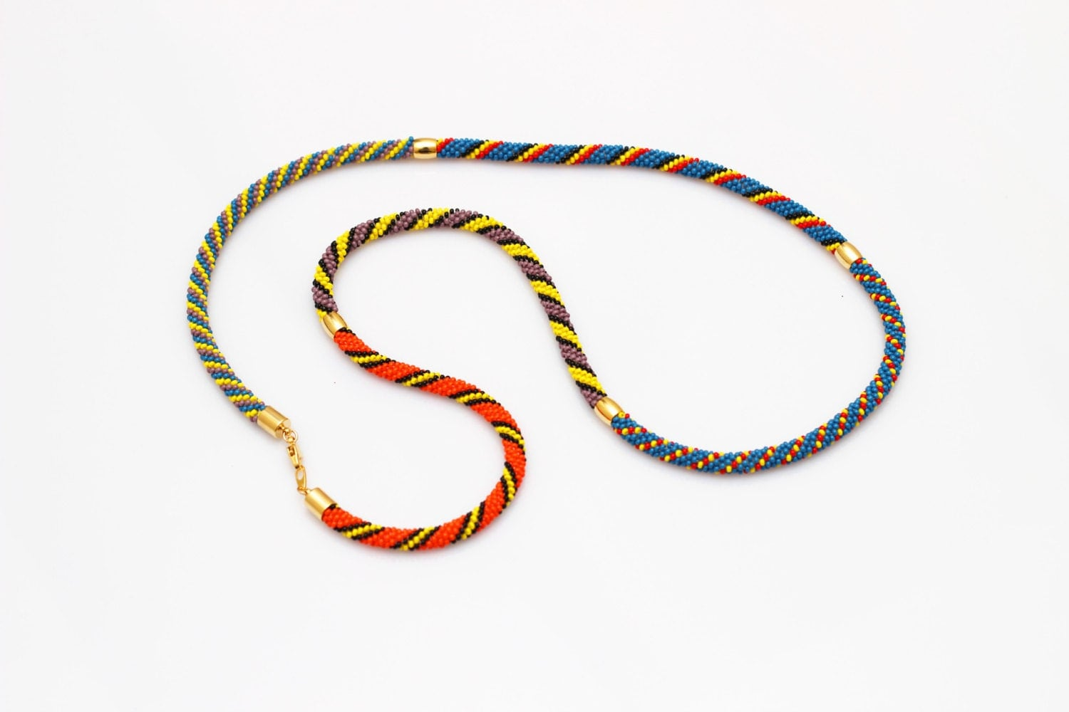 how to make african rope necklace