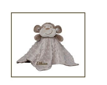 Personalized Monkey Blankie / Lovie / Security Blanket.  This will be an instant favorite.