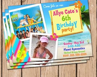 Teen Beach Movie Invitation, Teen Beach Movie Party, Teen Beach Movie Birthday