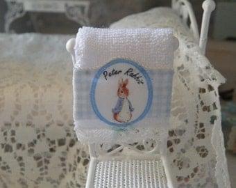 miniatures nursery  bath towel for dollhouse