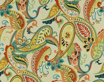 Paisley Print Covington Whimsy Multi Color Decorative Indoor Pillow Cover with Hidden Zipper
