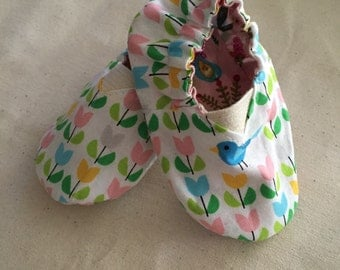 Organic Cotton Reversible Baby Shoes