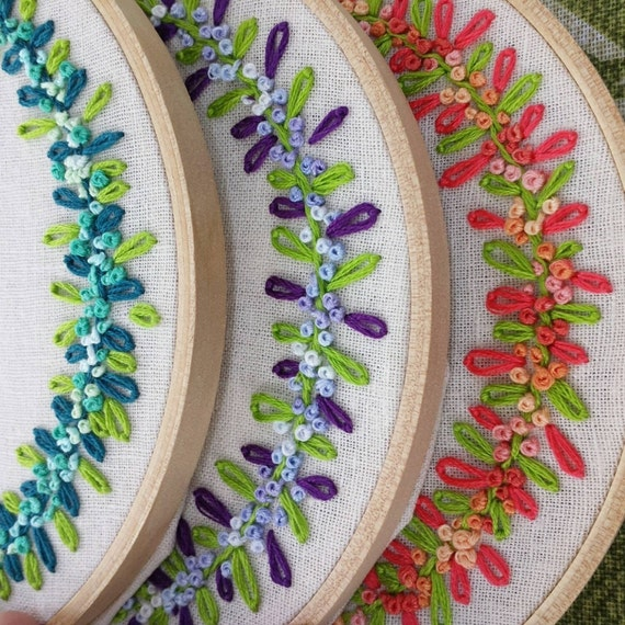 Hand embroidery hoop art name personalized