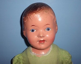 Vintage 1941 Reliable Doll Composition