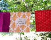 nature's prayer flags - handmade from new and repurposed fabric