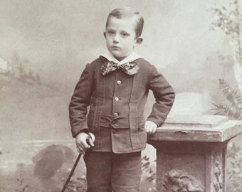 Early 1900's Cabinet Card featuring a dapper young man, taken in Columbus, Ohio. Great vintage ephemera.