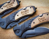 Custom MTech Folding Knife, Personalized Pocket Knife, Custom Engraved Knife: Father's Day, Gift for Him, Groomsmen, Stocking Stuffer - 06W