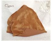 ITALIAN VISCOSE Fabric Fur Copper Brown Colour 6-7 mm pile 1/8 metre or more teddy bear making supplies plush