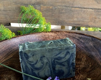 Lavender Tea Tree and Charcoal Silk Soap