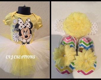 Yellow & White Tutu Set