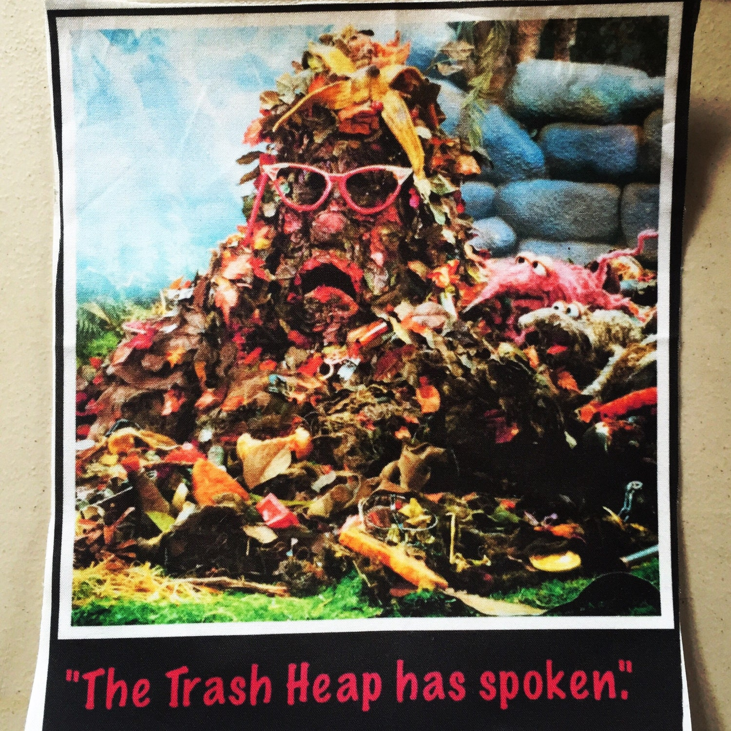 One of a kind the Trash Heap has spoken iron on by BangBang714