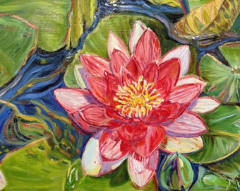 Waterlilies and Frog