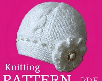 how to make a baby bonnet knitting