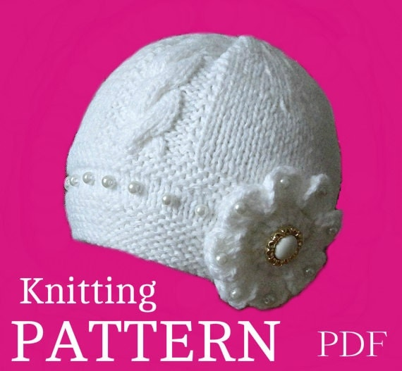 Knitting Pattern For T Bag Hat : Baby Hat P A T T E R N Knitting Baby Hat Baby Patterns