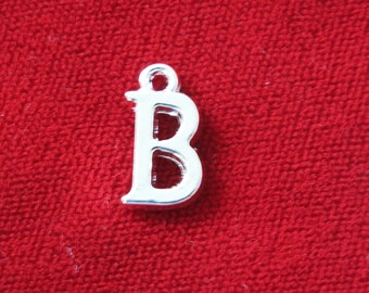 "10pc ""B"" charms in silver style (BC670)"