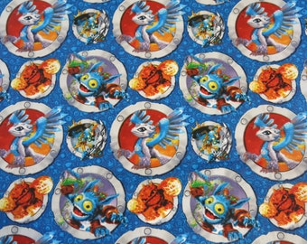 "1/2 yard of 100% cotton ""Skylanders"" fabric"