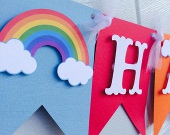 Rainbow banner, Rainbow birthday banner