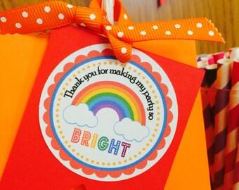 Rainbow Gift tags , Rainbow tags , Rainbow Favor tags, Over the Rainbow tags