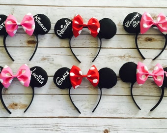 Personalized Mickey/Minnie ears
