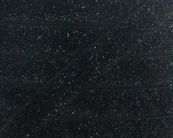 Black 5/8 inch Glitter Elastic - Elastic For Baby Headbands and Hair Ties - 5 Yards of 5/8 inch Glitter FOE