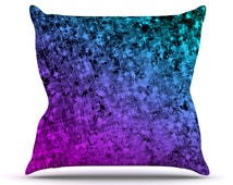 "Outdoor Throw Pillow - Ebi Emporium ""Romance Me at Midnight"" Great Hostess Gift! - Matches Outdoor Rugs!"