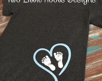 Expecting Mother Baby Feet Shirt