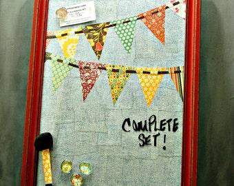 READY to SHIP, Magnetic Board, Dry Erase Board, Message Board, Denim, Magnet Board, Rustic Decor, Office, Kitchen, Bulletin Board, Shabby