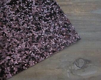 Glitter Fabric Material Chunky Burgundy (Wine) 8X10 sheet