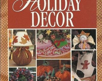 Sew-No-More Holiday Decor Hard Cover Book