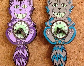 Cheshire Cat Clock Pin