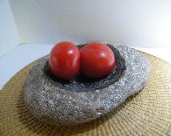 Table Centerpiece /Stone Bowl/ Centerpiece/Fruit Bowl