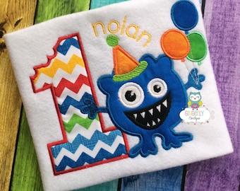 Monster Themed Birthday Shirt or Bodysuit, First Birthday Shirt
