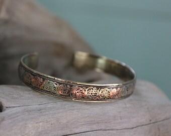 filigree bracelet, Tibetan bracelet, bronze bracelet , Boho Bracelet, Tribal Bracelet, Indie bracelet, Gyspy Bracelet ,silver bracelet