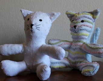 20% OFF Handcrafted Plush Minky Cats - Assorted Colors