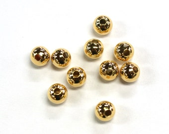 10pc's x 8mm Tarnish Resistant Gold Electroplated Spacer Beads