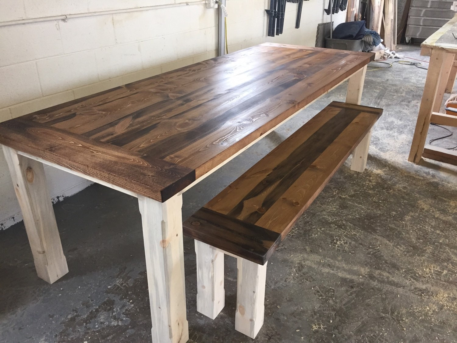 Custom set with a beetle kill kitchen table by coloradotablesllc - Custom kitchen table ...