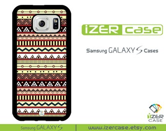 Samsung Galaxy S6 Case, Galaxy S5 Case, Galaxy S4 Case, Galaxy S3 Case. Aztec Brown Design