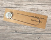 Dublin map bookmark. Unique page marker made with a vintage map of Ireland. Book lover's gift, birthday gift, small gift idea.