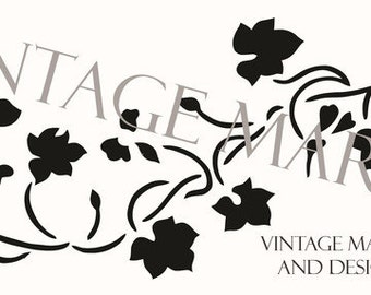 FREE SHIPPING!! Cottage Ivy Stencil