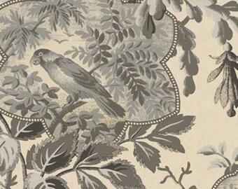 Birds of a Feather - Cream Grey - 1/2yd