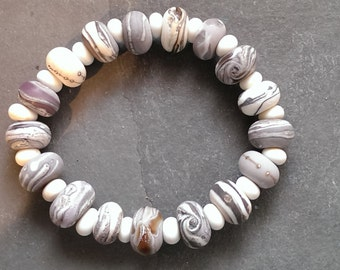 Tumbled Murano Glass 'Pebble' Bracelet Made to order