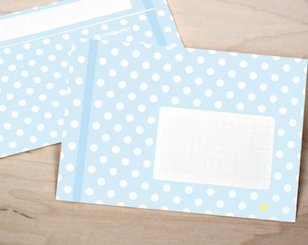 10 light blue envelopes DIN C6
