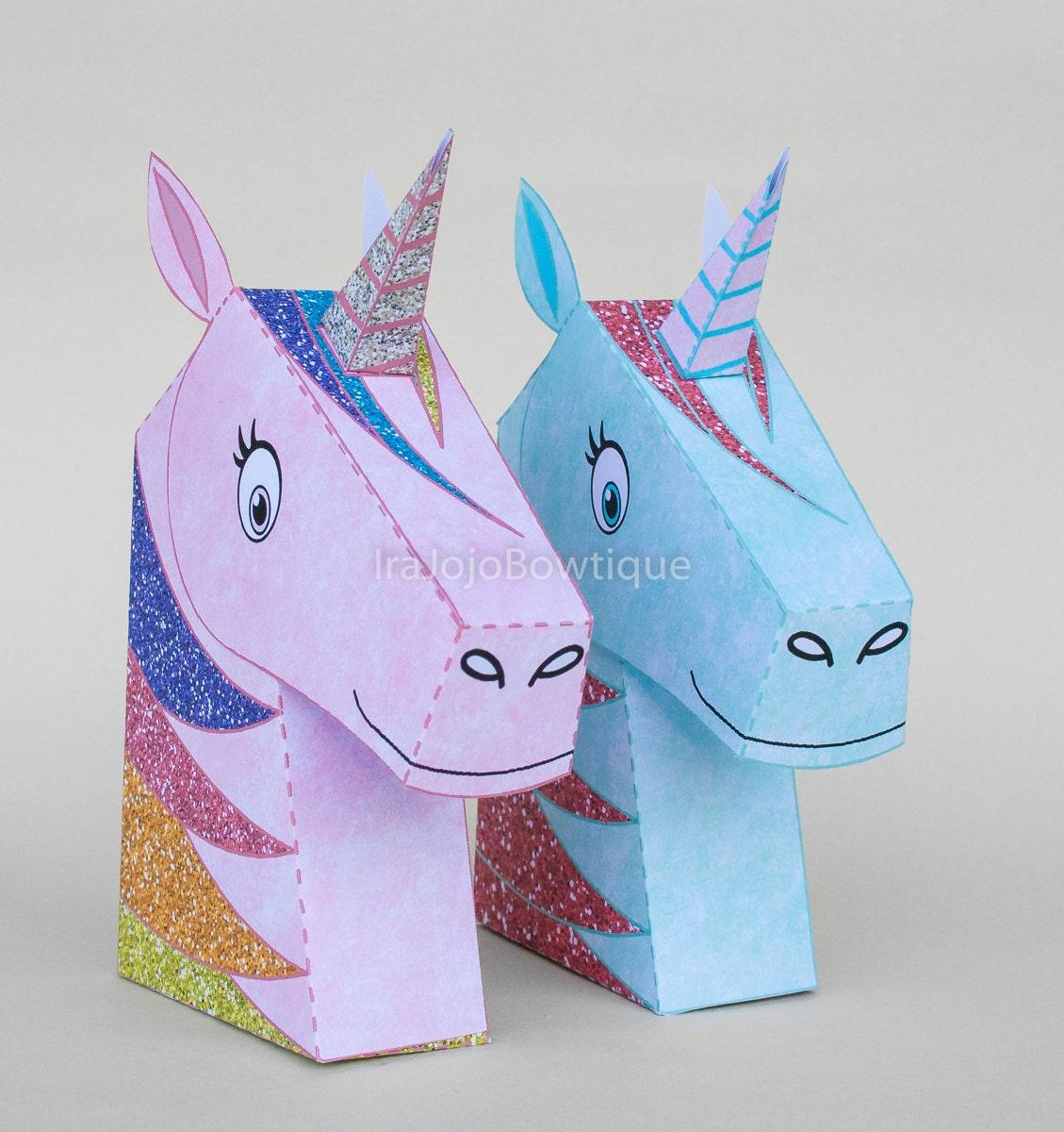 Unicorn Gift Box Set Princess Unicorn Favor Box by