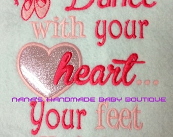 DANCE with your heart - Embroidery Design -   DIGITAL Embroidery DESIGN